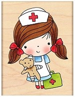 Penny Black Wood Stamp - First Aid Mimi