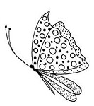 Penny Black Wood Stamp - Bohemian Butterfly