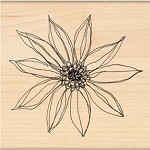 Penny Black Wood Stamp - Star Inspired