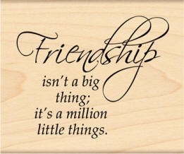 Penny Black Wood Stamp - Friendship