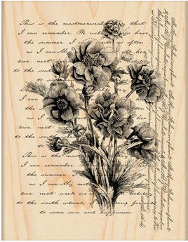 Penny Black Wood Stamp - Words Like Flowers
