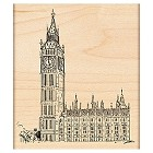 Penny Black - Wood Stamps - Houses of Parliament
