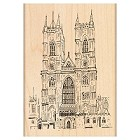 Penny Black - Wood Stamps - Westminster Abbey