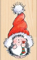 Penny Black  - Wood Mounted Stamp - Santa's Hat