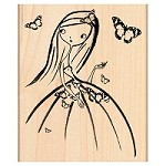 Penny Black Wood Stamp - Melle Papillion