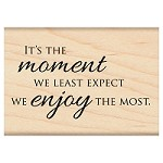 Penny Black Wood Stamp - Moment of Joy