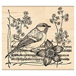 Penny Black Wood Stamp - Singer's Muse