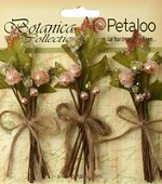 Petaloo - Botanica Collection - Sugared Berry Clusters - Peach