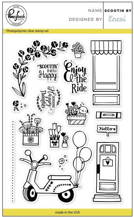 Pink Fresh Studio - Clear Stamps - Scootin By