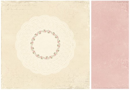 "Pion Design - For Mother Collection - 12""x12"" Double Sided cardstock - Doily"