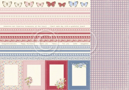 "Pion Design - Patchwork Of Life Collection - 12""x12"" Double Sided cardstock - Borders"
