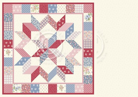 "Pion Design - Patchwork Of Life Collection - 12""x12"" Double Sided cardstock - Family Quilt"