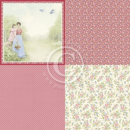 "Pion Design - Patchwork Of Life Collection - 12""x12"" Single Sided cardstock - 6X Being A Mother"