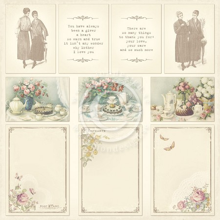 "Pion Design - Images From The Past Collection - 12""x12"" Single Sided cardstock - For Mother"