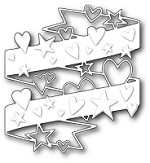 Poppy Stamps - Die - Hearts and Stars Wrap