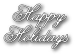 Poppystamps - Die - Vintage Happy Holidays