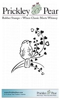 Prickley Pear - Cling Stamp - Lovebird on Flourish