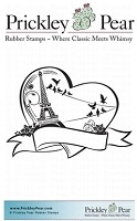 Prickley Pear - Cling Stamp - Paris Heart