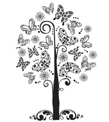 Prickley Pear - Cling Stamp - Butterfly Tree