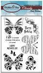 Prickley Pear Clear stamp -Butterfly 2