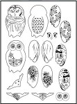 Prickley Pear Clear Stamp -Build an Owl 2