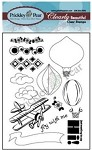 Prickley Pear Clear Stamp -Hot Air Baloon