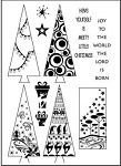 Prickley Pear Clear Stamp - Christmas Trees