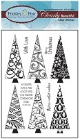 Prickley Pear Clear Stamp  - Christmas Trees 2