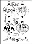 Prickley Pear Clear Stamp - Christmas Ornament 2