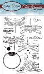 Prickley Pear Clear Stamp -Dragonflies