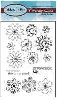 Prickley Pear - Clear Stamp Set -Flowers 2
