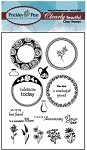 Prickley Pear Clear Stamp -Spring Scalloped Circle