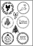 Prickley Pear Clear Stamp -Winter Scalloped Circle