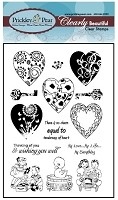 Prickley Pear Clear Stamp - Hearts 2