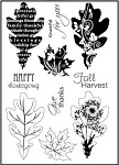 Prickley Pear Clear Stamp -Maple/Oak Leaves