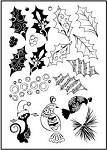 Prickley Pear Clear Stamp - Holly Berry