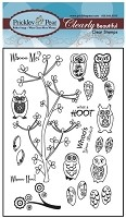Prickley Pear Clear Stamp - Mini Owls