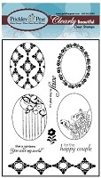 Prickley Pear Clear Stamp - Scalloped Oval