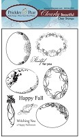 Prickley Pear Clear Stamp  - Fall Scalloped Oval 2