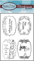 Prickley Pear - Clear Stamp Set - Winter Flourished Ovals