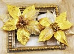 Prima Extra Large Holiday Poinsettia - Gold