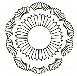 Prima Clear Stamp - Paintable Doily