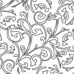Prima Clear Stamp - Paintable Swirl