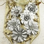 Prima Precious Metals - Frosted (Silver Flowers)