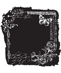 Prima-Clear Stamp-Reverse Butterfly Frame