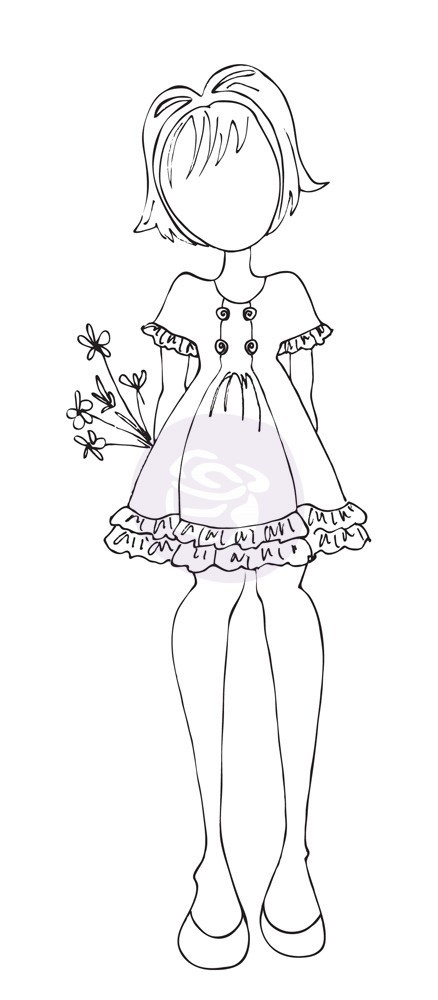 Prima Cling Stamp Keira By Julie Nutting