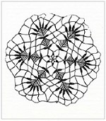 Prima - Mini Clear Stamp - small Doily