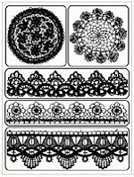 Prima - Clear Stamp - Lace & Doily