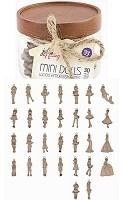 Prima - Mixed Media Laser Cut Wood Mini Doll Shapes by Julie Nutting - Mini Dolls