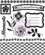 Prima - Hello Pastel Collection - Clear Stamp - Hello Pastel #3